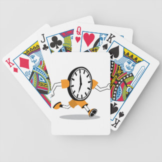 Running Clock Bicycle Playing Cards