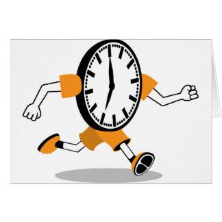 Running Clock Card