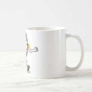 Running Clock Classic White Coffee Mug