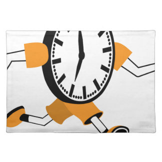Running Clock Cloth Place Mat