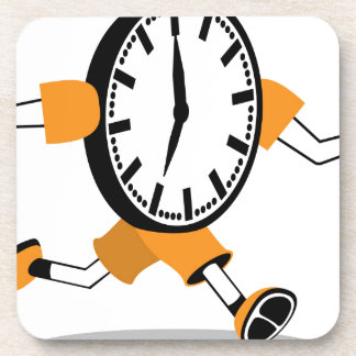 Running Clock Drink Coasters