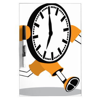 Running Clock Dry-Erase Whiteboards