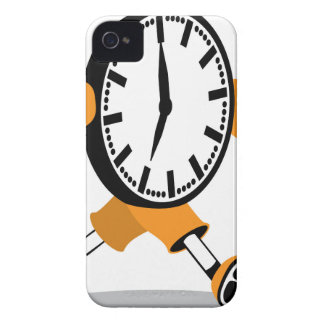 Running Clock iPhone 4 Cover