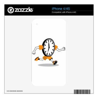 Running Clock iPhone 4S Decal