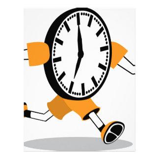 Running Clock Letterhead