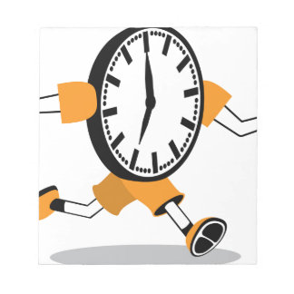 Running Clock Memo Pad