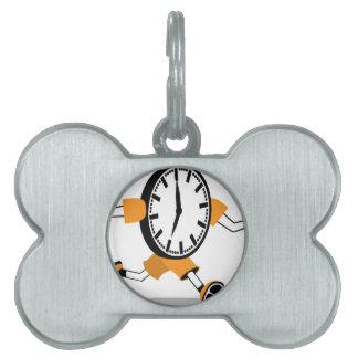 Running Clock Pet Tags