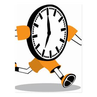 Running Clock Postcard