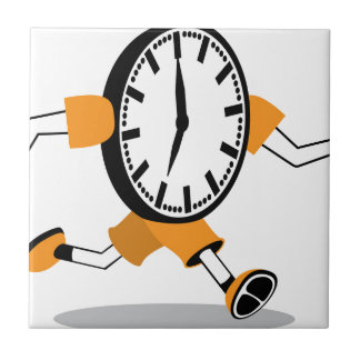 Running Clock Small Square Tile