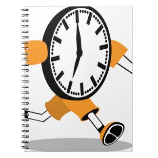 Running Clock Spiral Note Book