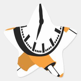 Running Clock Star Sticker