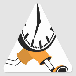 Running Clock Triangle Sticker