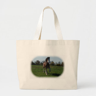 Running Clydesdale Tote Bags
