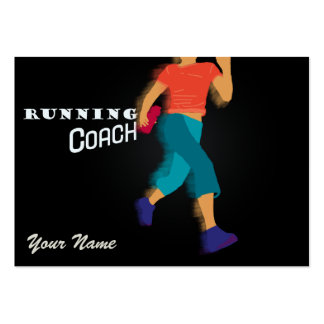 Running Coach - Business-, Schedule Card Large Business Card
