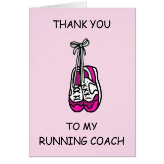 Running Coach Thanks Card