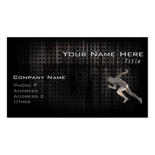 Running; Cool Business Card Template