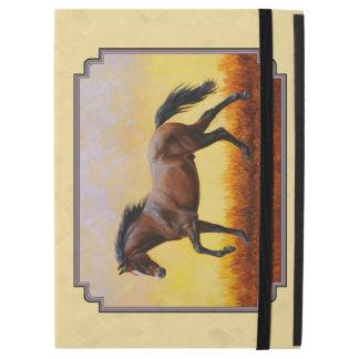 Running Dark Bay Horse Yellow iPad Pro Case