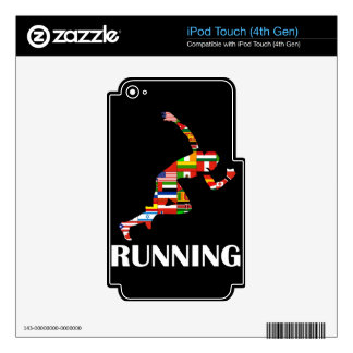 Running Decal For iPod Touch 4G
