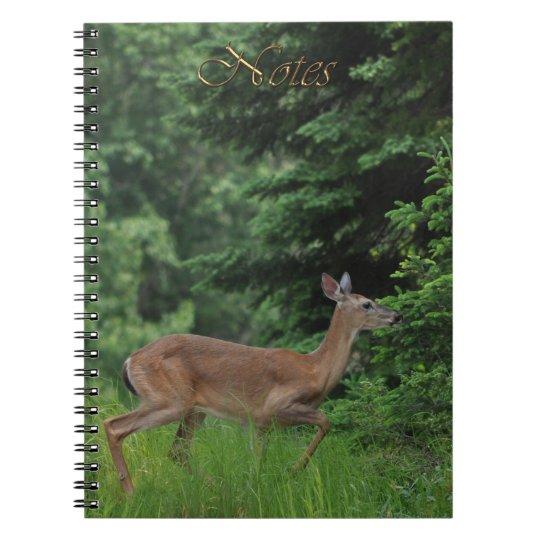 Running Deer Wildlife-supporter Notebook