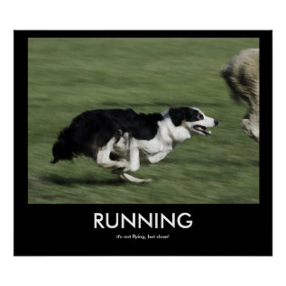 Running Demotivational Poster at Zazzle