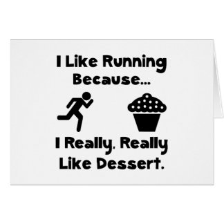 Running Dessert Greeting Card