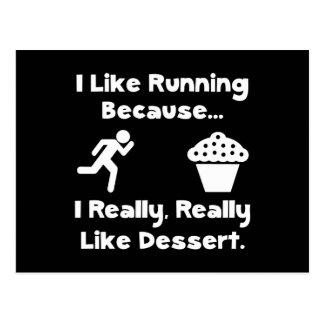Running Dessert Postcard