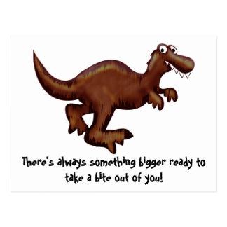 Running Dinosaur Postcard