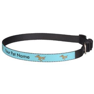 Running Dog Cartoon Customizable Collar
