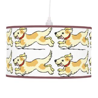 RUNNING DOG CHILDS FUN CEILING PET LAMP LIGHT