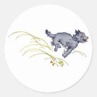 Running Dog Classic Round Sticker