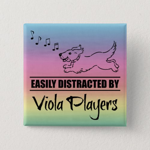 Running Dog Easily Distracted by Viola Players Button