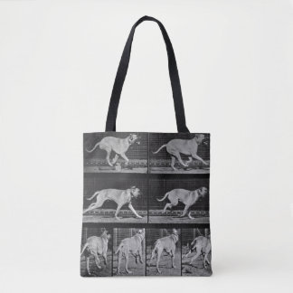 Running Dog, plate 707 from 'Animal Locomotion', 1 Tote Bag