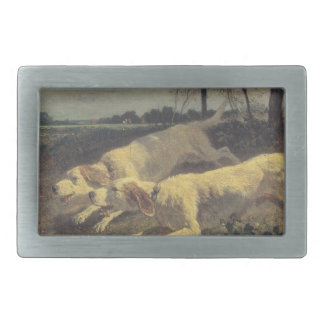 Running dogs by Constant Troyon Belt Buckle