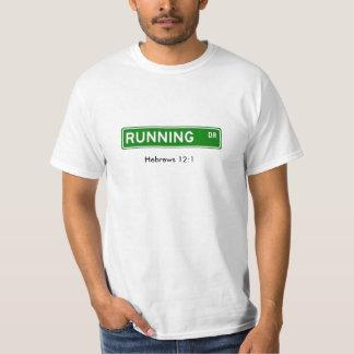 running drive, Hebrews 12:1 - Cust... - Customized T-Shirt