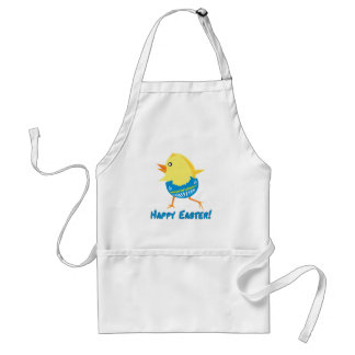 Running Easter Chick Adult Apron