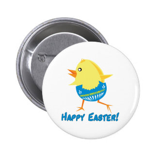 Running Easter Chick Buttons
