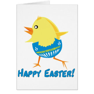 Running Easter Chick Greeting Cards