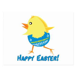 Running Easter Chick Postcard