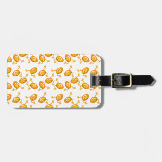 Running Easter eggs pattern Bag Tag
