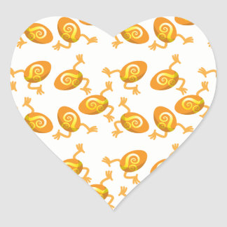 Running Easter eggs pattern Heart Sticker