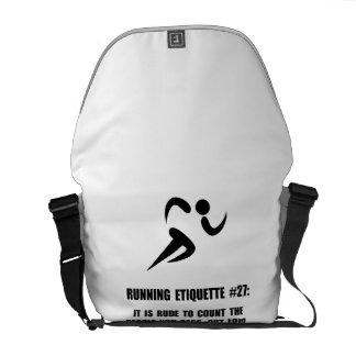 Running Etiquette Courier Bag