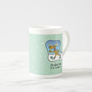 Running Exercise Reindeer Christmas Tea Cup