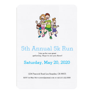 Running Family Team Invitation