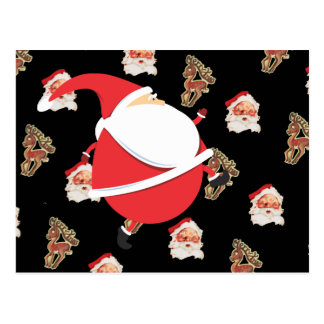 Running Fat Santa Postcard