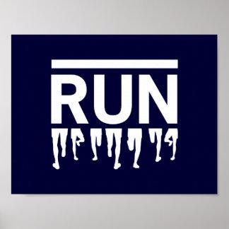 Running Feet Poster