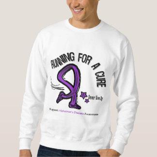 Running For A Cure Alzheimer's Disease Sweatshirt