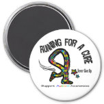 Running For A Cure Autism Fridge Magnet