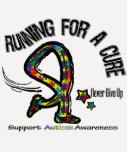 Running For A Cure Autism T Shirts