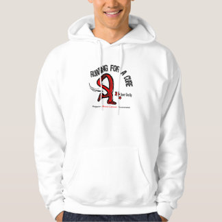 Running For A Cure Blood Cancer Hooded Pullovers