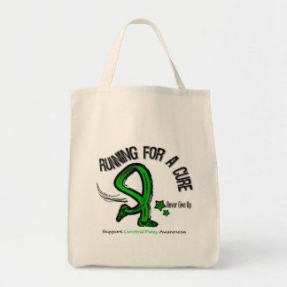 Running For A Cure Cerebral Palsy Grocery Tote Bag